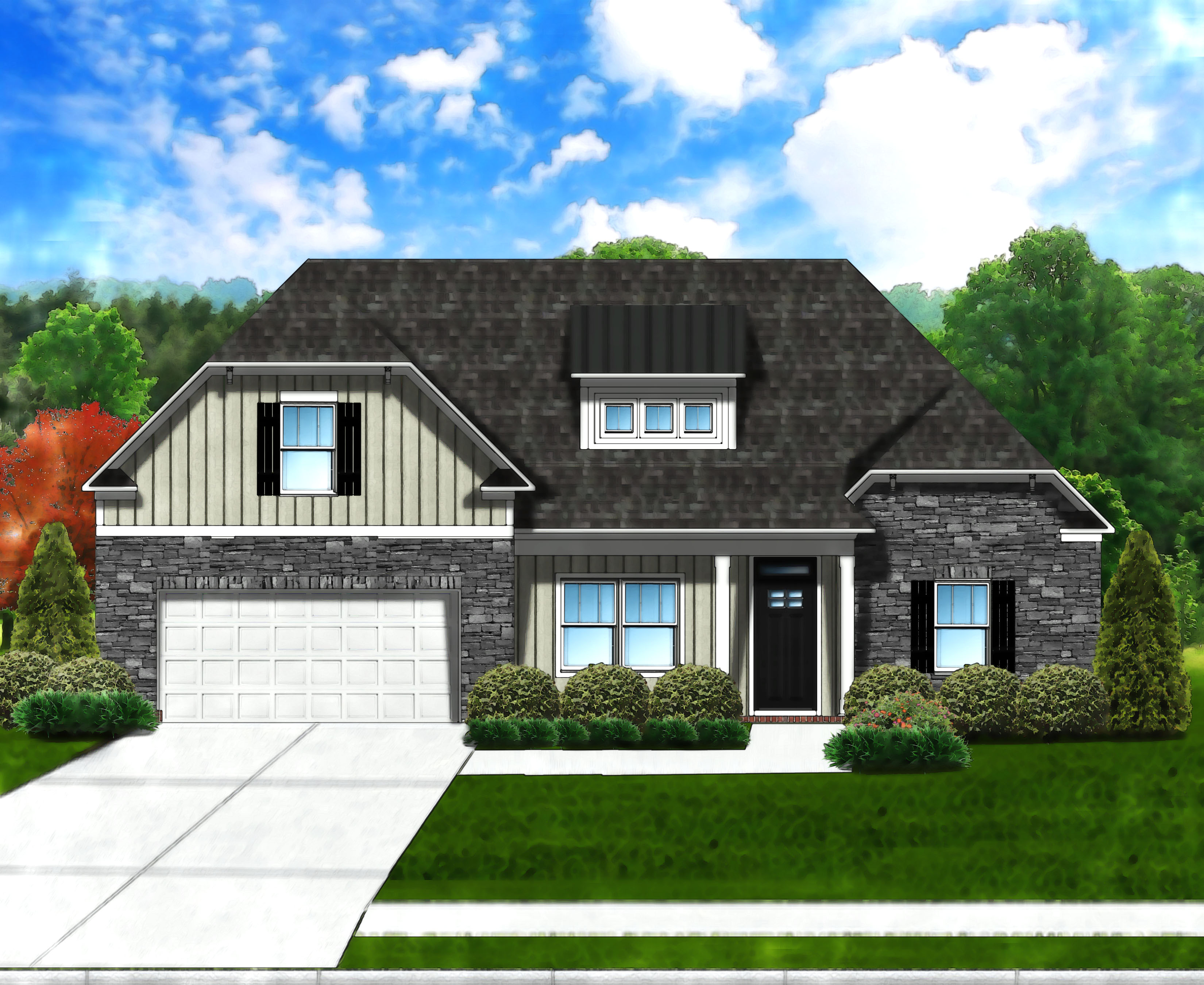 Edisto II C6 (Stone Front) by Great Southern Homes