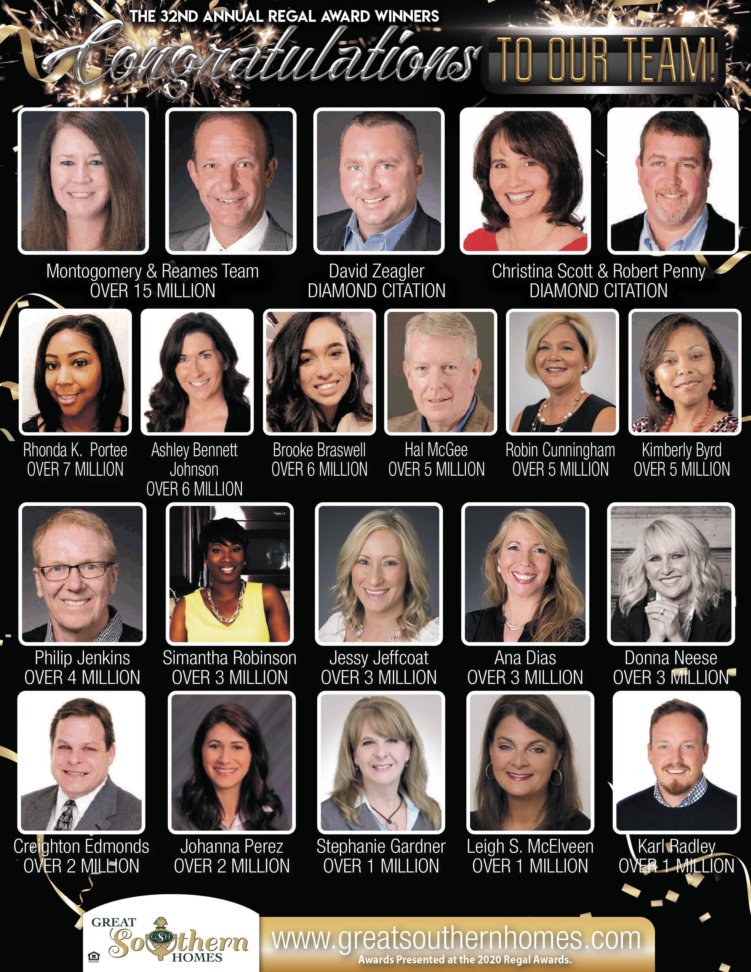 2021 GSH Regal Award Winners