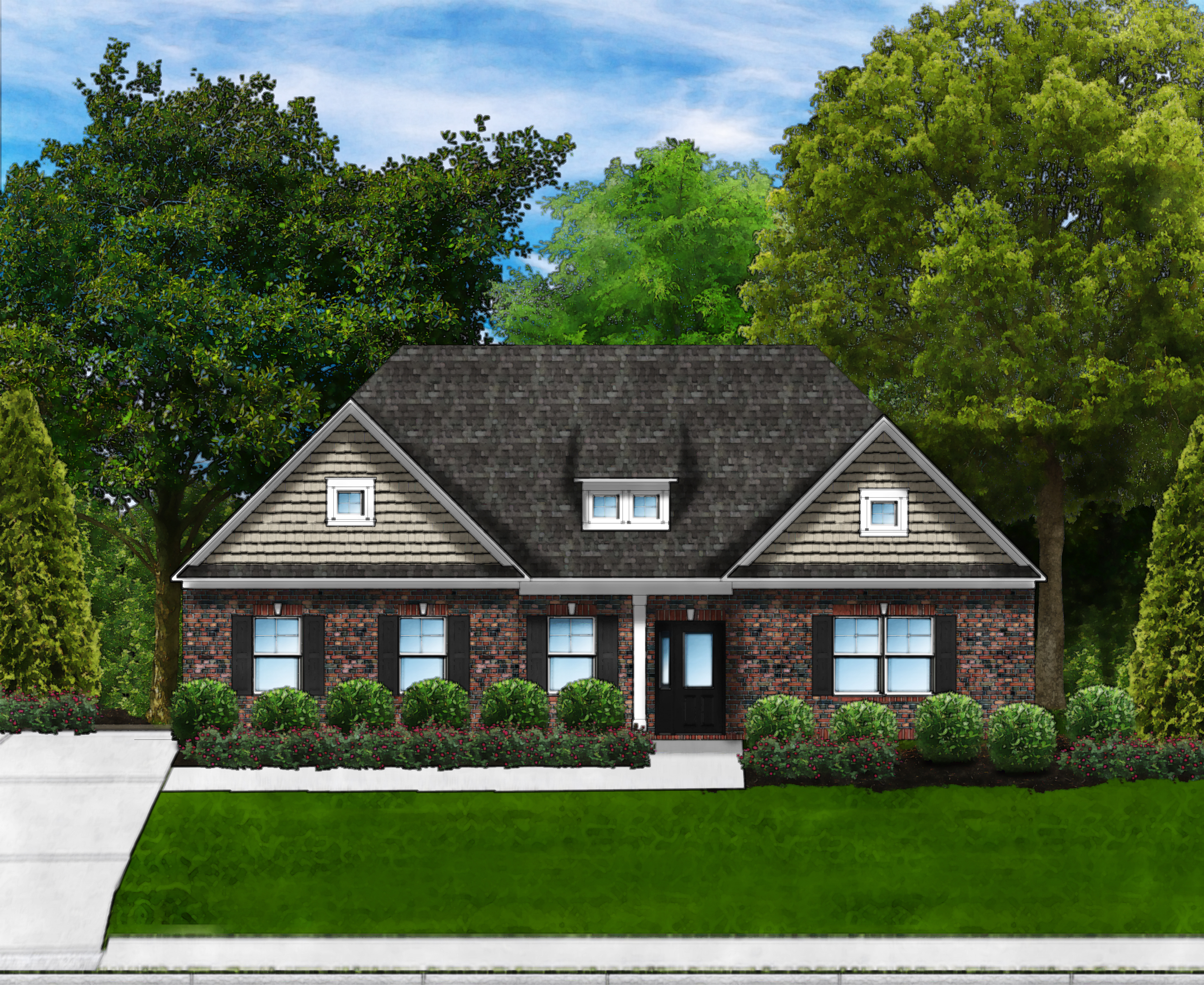 Marsh Bay D4 (Brick Front) by Great Southern Homes