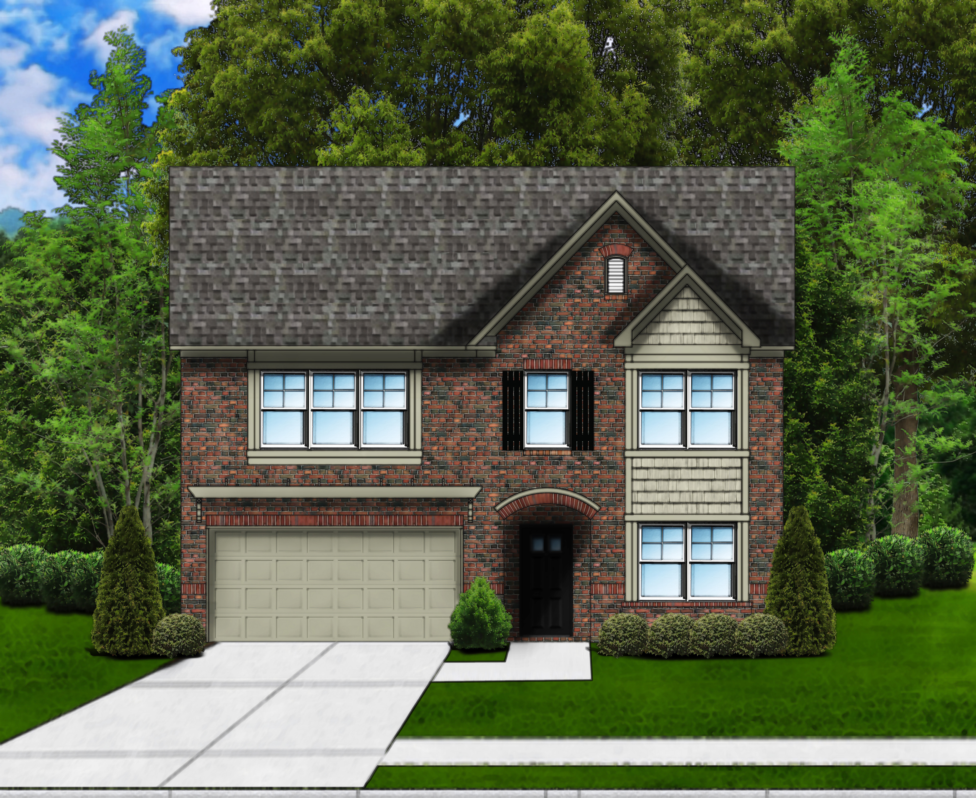 Porter D4 (4 Sides Brick) by Great Southern Homes