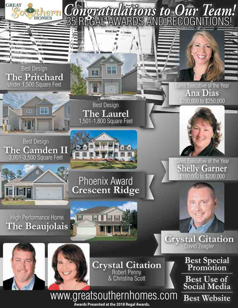 Great Southern Homes 2019 Regal Awards Winners